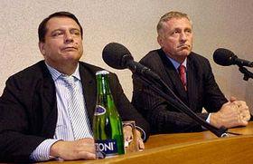 Jiří Paroubek aMirek Topolánek, foto: ČTK