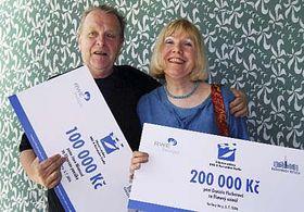 Jan Nemec and Daniela Fischerova, photo: CTK