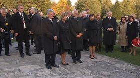 Joachim Gauck in Lidice 2012 (Foto: ČT24)