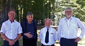 Dekan Dr. Volker Pröbstl, Pfarrer Pavel Kučera, Diakon Gerhard Roßbach, Synodalsenior Daniel Ženatý (Foto: Maria Hammerich-Maier)
