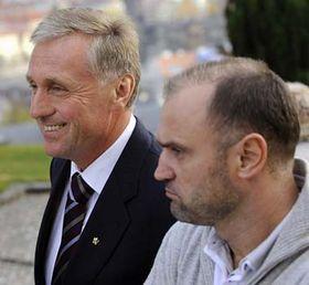 Mirek Topolánek and Ivan Langer, photo: CTK