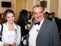 Karel Schwarzenberg a rencontré au palais Černín des étudiants étrangers en République tchèque, photo: Robert Janás, MZV