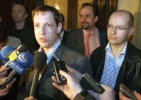 Stanislav Gross, Jan Kohout and Bohuslav Sobotka, photo: CTK