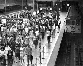 Stanice metra Muzeum vroce 1974, foto: archiv DP Praha