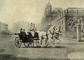 Елизавета Баварская и Франц Иосиф в Будапеште, фото: открытый источник