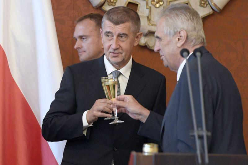 Andrej Babiš y Miloš Zeman, foto: ČTK/Deml Ondřej