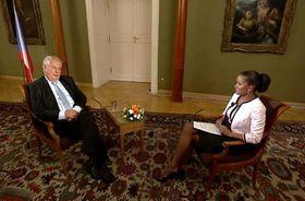 The interview with Miloš Zeman, photo: ČT24