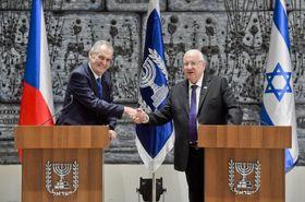 Miloš Zeman, Reuven Rivlin, photo: ČTK/Vít Šimánek