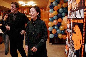Francouzský filmový teoretik apublicista Jean-Pierre Rehm ajaponská režisérka Naomi Kawaseová, foto: ČTK