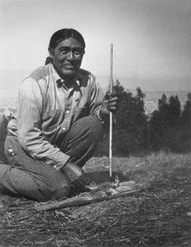 Indián Ishi, foto: Saxton T. Pope, Public Domain