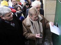 Václav Malý, Václav Havel, Pavel Landovský, photo: CTK