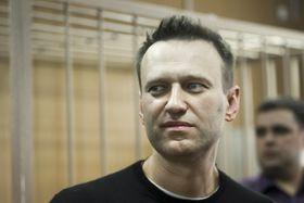 Алексей Навальный в зале суда, Фото: ЧТК