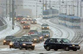 Las copiosas nevadas causaron en el país una situación calamitosa..., foto: CTK