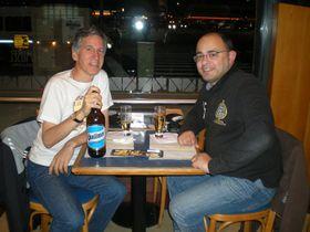 Hugo Longhi y David Iurescia, foto: Archivo de Hugo Longhi