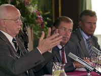 Präsidenten Madl, Havel und Kwasniewski, Foto:CTK