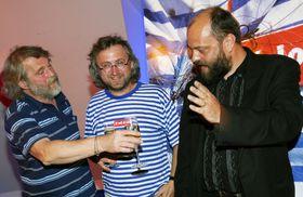 Petr Šabach, Jan Hřebejk, Petr Jarchovský in 2008, photo: CTK