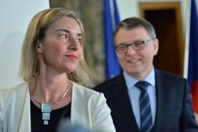 Federica Mogherini y Lubomír Zaorálek, foto: ČTK