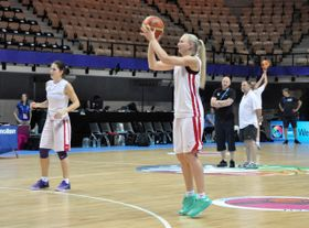 The Czech women's basketball team during the training, photo: CTK