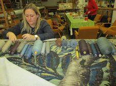 Restaurování vlámských tapisérií, foto: Národní památkový ústav