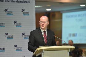 Богуслав Соботка на саммите Stratcom, Фото: официальный сайт Правительства ЧР