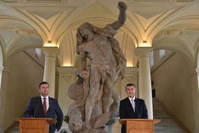 Andrej Babiš y Jan Hamáček, foto: ČTK / Kamaryt Michal