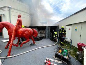 Пожар в Музее Кампа, фото: Архив Пожарной службы Праги