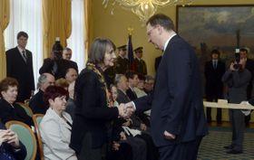 Dana Němcová, Petr Nečas, photo: CTK