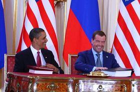 Barack Obama et Dimitri Medvedev, photo: Štěpánka Budková