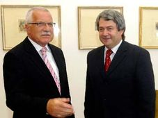 Václav Klaus a Vojtěch Filip, foto: ČTK