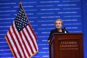 Madeleine Albright, photo: courtesy Columbia University