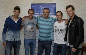 Jiří Veselý, Lukáš Rosol, Jaroslav Navrátil, Radek Štěpánek, Tomáš Berdych, photo: ČTK