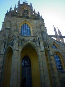 Vchod shlavní patronkou kostela, foto: Zdeňka Kuchyňová