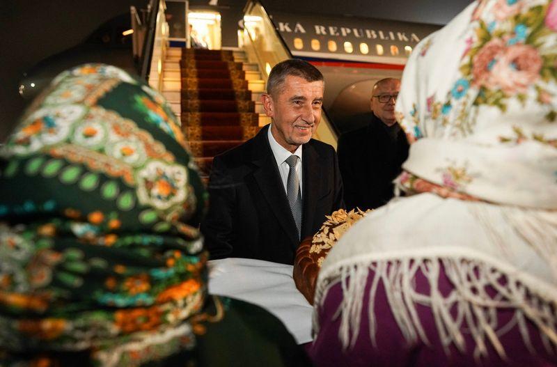 Премьер Чехии Андрей Бабиш прибыл в Киев, фото: Twitter Andreje Babiše