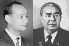 Alexander Dubcek y Leonidas Brezhnev, foto: ČTK