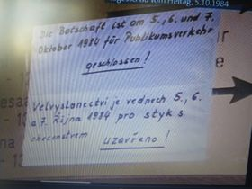 Anschlag an der Botschaft der Bundesrepublik in Prag (Foto: Familienarchiv Dieter Müller)