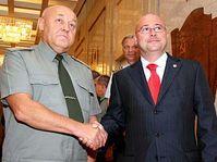 General Yuri Baluyevsky with deputy defend minister Martin Bartak, photo: CTK