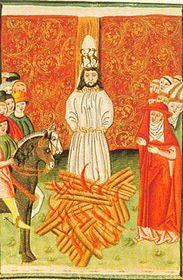 La muerte del reformador religioso Juan Hus en la hoguera