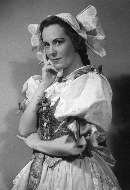 Jarmila Novotná vroli Mařenky, foto: Národní muzeum