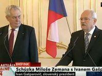 Miloš Zeman et Ivan Gašparovič, photo: CT24