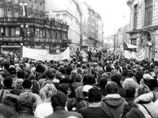 Samtene Revolution (Foto: Bedřich Kaas, Archiv des Tschechischen Rundfunks)