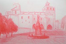 Kresba zdeníku (blogu) ocestě do Santiaga, zdroj: archiv Víťy Holého