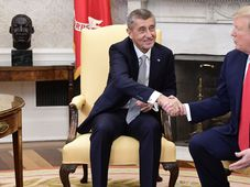 Andrej Babiš et Donald Trump, photo: AP Photo/Evan Vucci