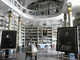 La biblioteca del convento de Broumov - el globo terrestre del año 1712, foto: Archivo de Radio Praga
