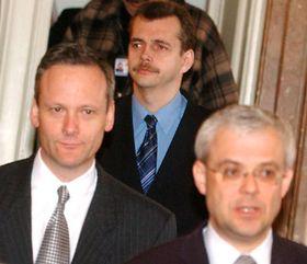 Cyril Svoboda, Jaroslav Tvrdík y Vladimír Spidla, foto: CTK