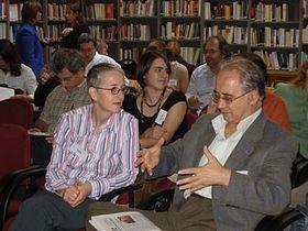 Barbara Falk and Gabriel Andreescu, photo: Linda Mastalir