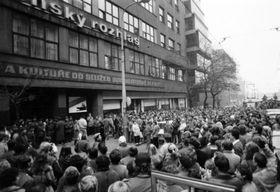 November 1989 in Prague, photo: Czech Radio archives