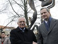 Václav Klaus et Bruno Le Maire, photo: CTK