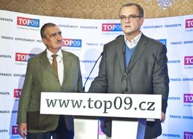Karel Schwarzenberg y Miroslav Kalousek, foto: Filip Jandourek