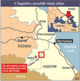 Карта Дагестана. Тело было обнаружено на берегу реки Андийское Койсу (Источник: ЧТК)