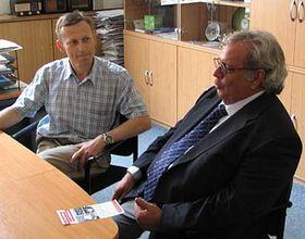 Miroslav Krupicka y Raúl Rivero